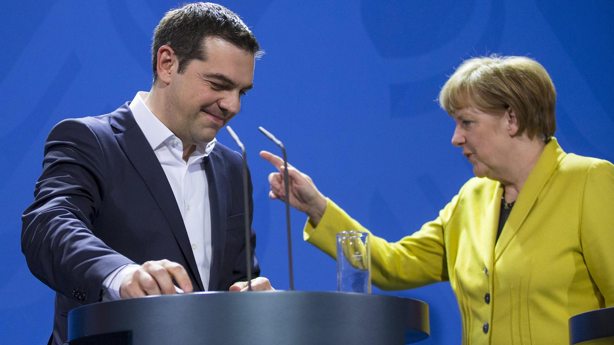 Alexis Tsipras and Angela Merkel - Econ Alerts