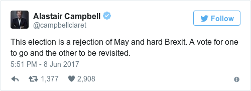 Alistair Campbell tweet - Econ alerts