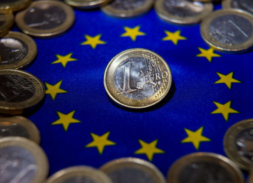 Euro flag and coins - Econ Alerts