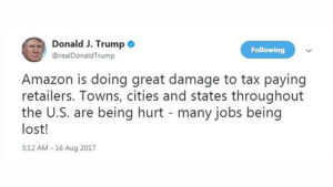 Trump tweet about Amazon - Econ Alerts