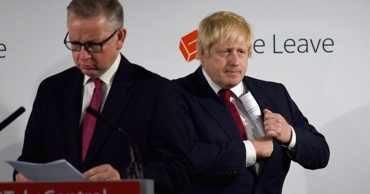 Boris Johnson and Michael Gove - Econ Alerts