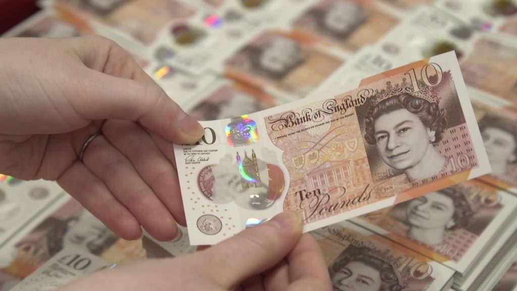10 pound notes, sterling | Econ Alerts