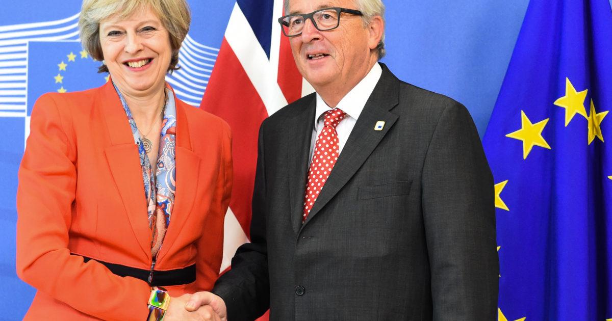 Theresa May, Jean-Claude Juncker | EconAlerts