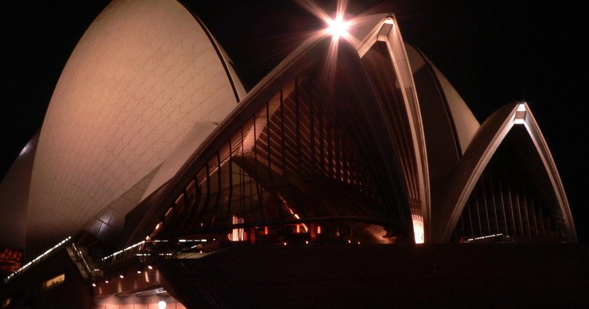sydney opera house at night | EconAlerts